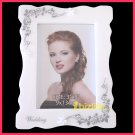 "Picture/Photo Frame in Pearl white by resin for 3R ( 5""x3.5"") as 3D picture frame PF05"