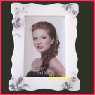 "Lovely Pearl white resin Photo Frame for 3R (5""x3.5"") paper as 3D picture frame PF04"