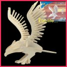Wooden 3D puzzle - EAGLE as DIY jigsaw Children educational Toy gift (WP01)
