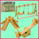 Wooden 3D puzzle-PLAYGROUND as DIY jigsaw Children educational Toy gift (WP02)