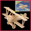 Wooden 3D puzzle-BIPLANE as DIY jigsaw Children educational Toy gift (WP04)