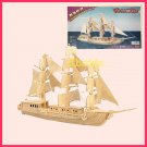 Wooden 3D puzzle - SAILING BOAT as DIY jigsaw Children educational Toy gift (WP06)