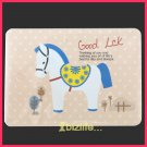 Cutie Circus Horse-Memo note sheet Pack with ring connected presentation cards stationery (PS02)