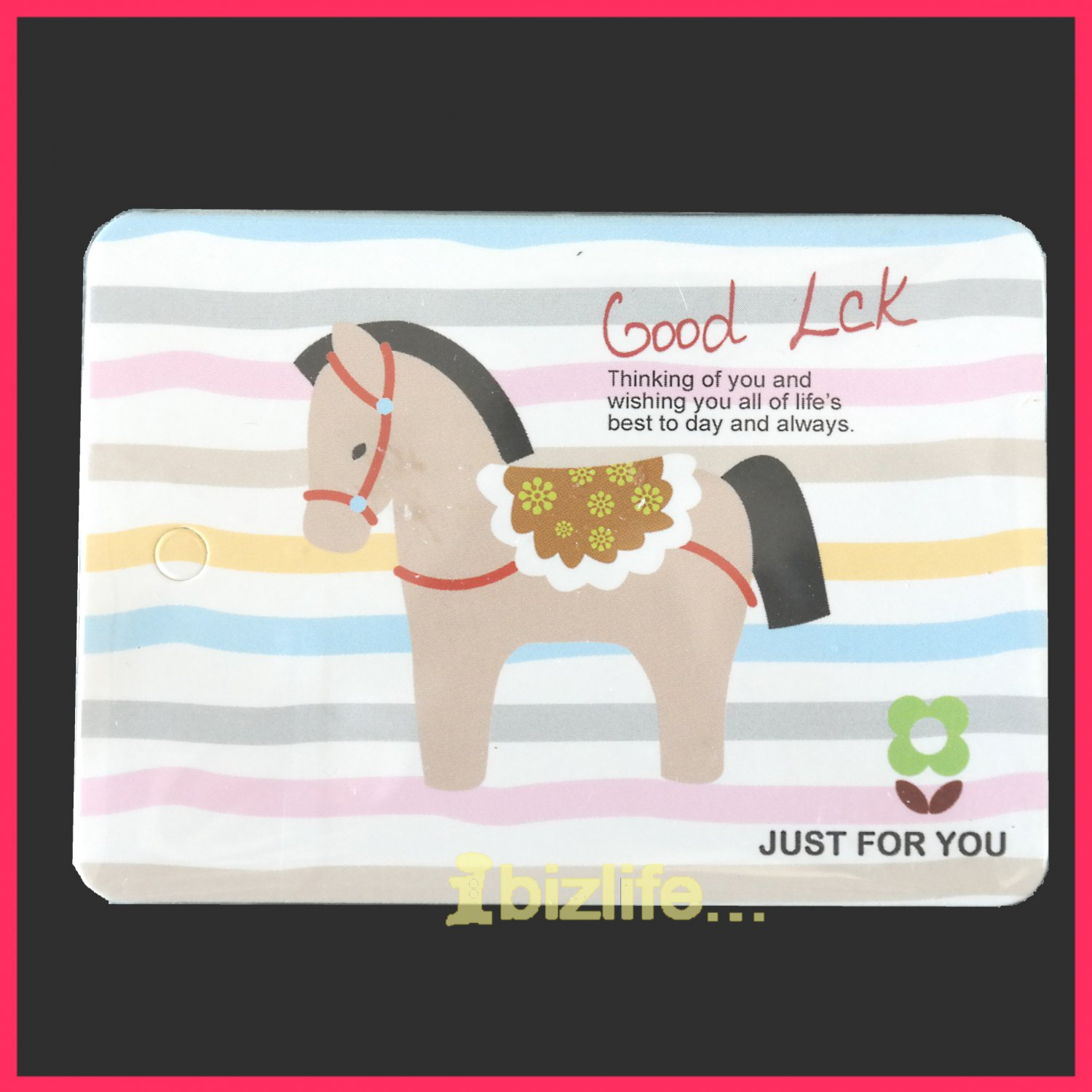 Cutie Circus Horse-Memo note sheet Pack with ring connected presentation cards stationery (PS03)