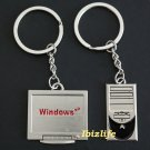 Metal keychain - a pair of keychains with Window PC and PC desktop (kc17)