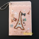Fashion 2-sides pocket for cards with Paris Eiffel Tower (FP01)