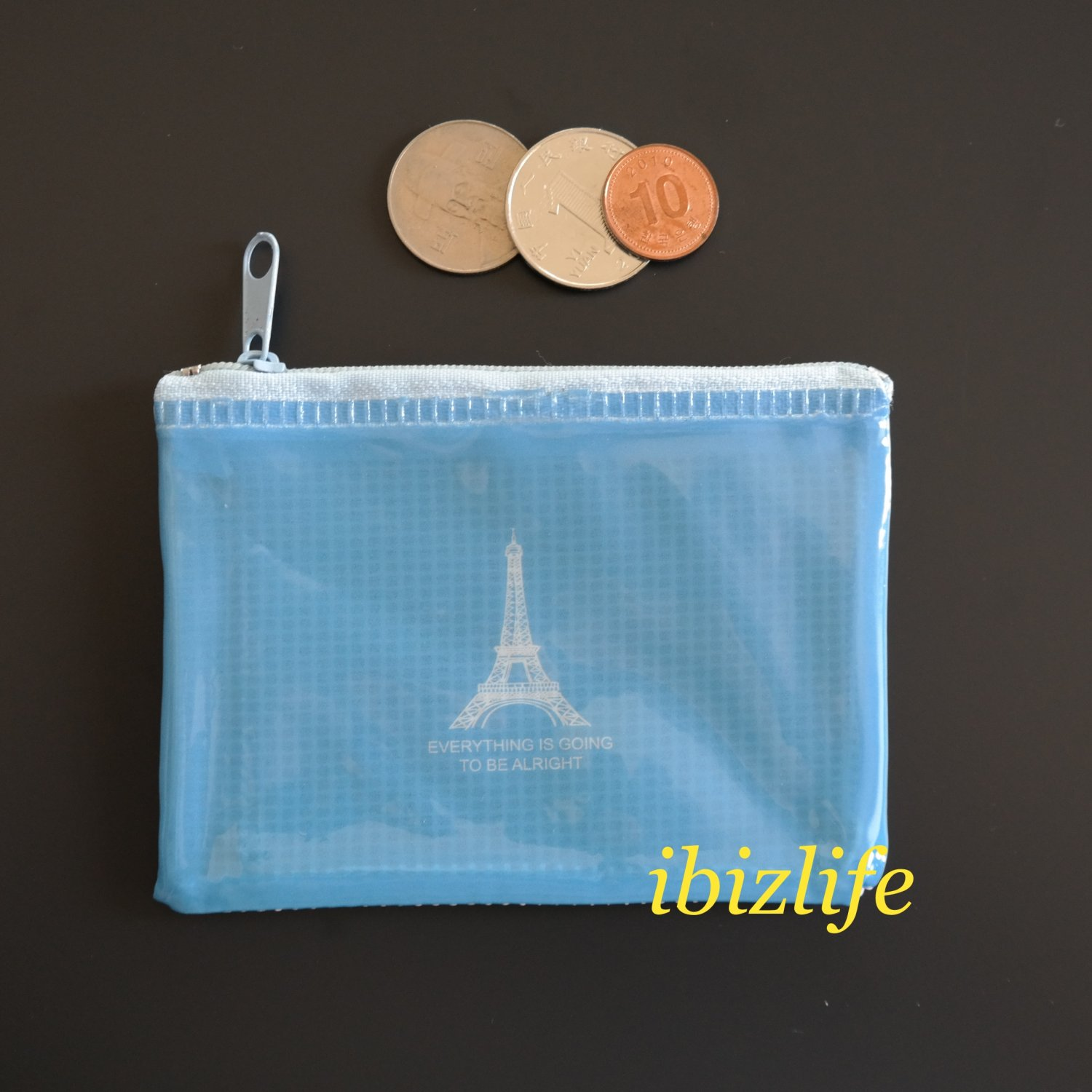 Fashion pocket for coins or cards with one Paris Eiffel Tower printing (FP07)
