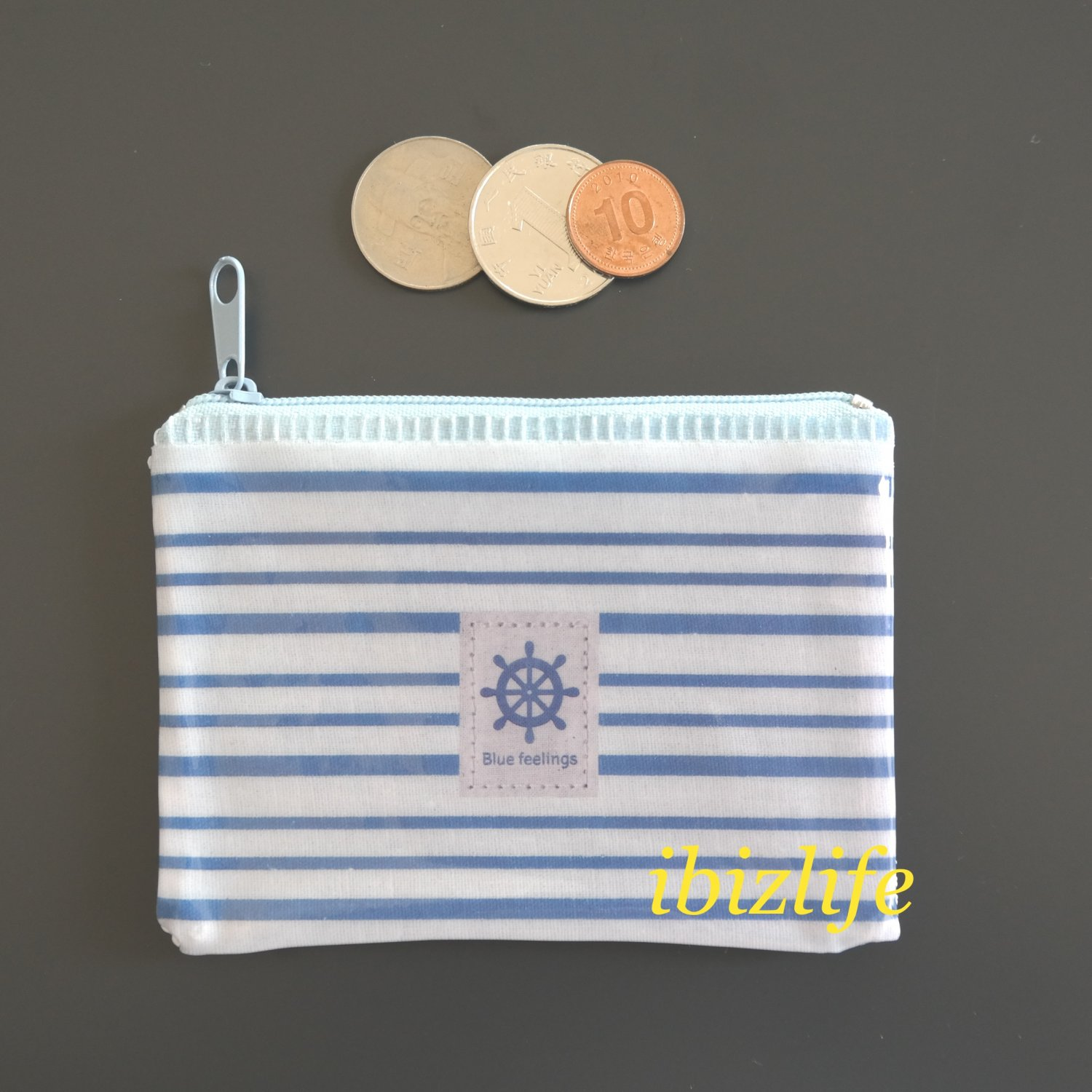 Fashion pocket for coins or cards with Steering wheel printing(FP08)