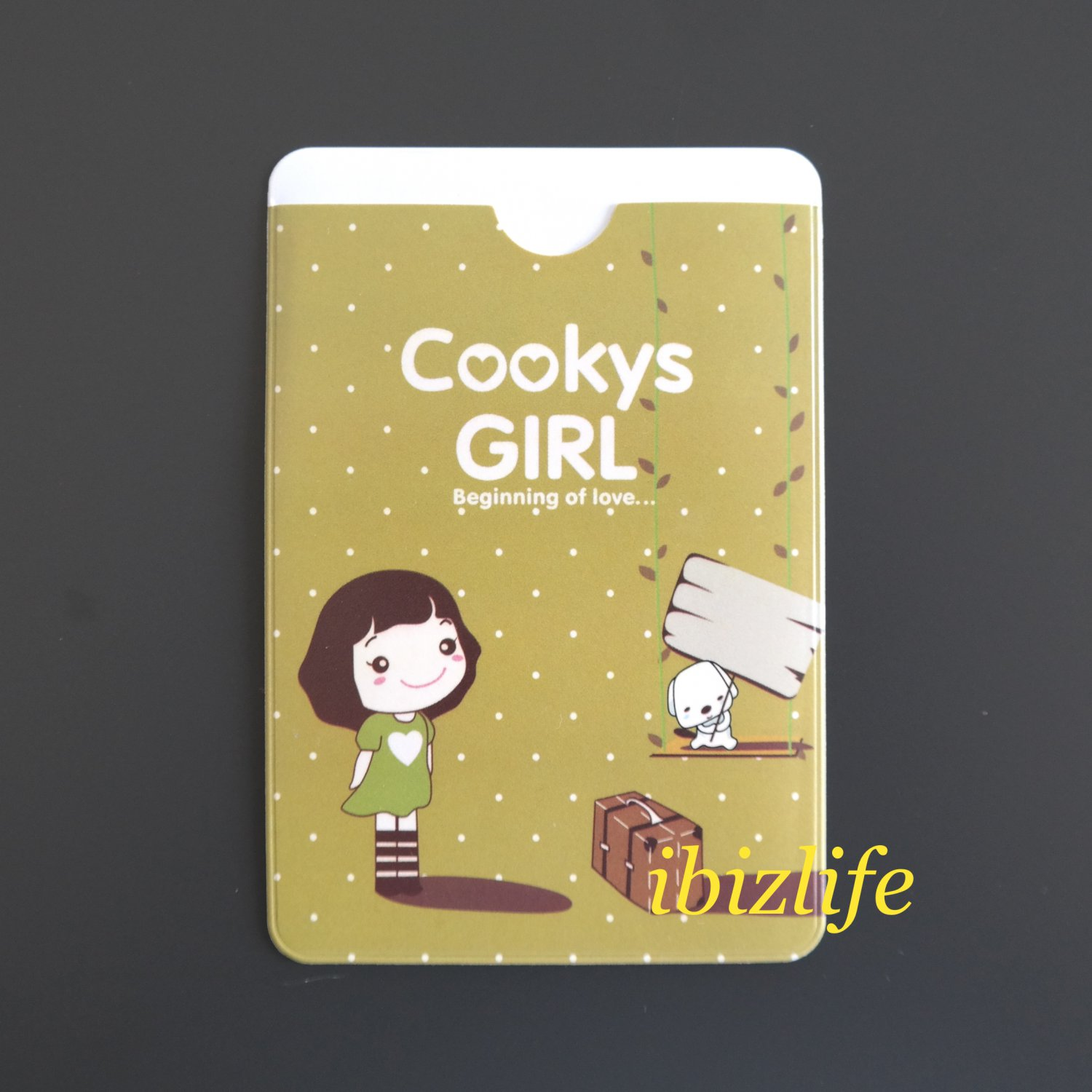 Fashion 2-sides pocket for cards with Cookys Girl having a trip (FP12)