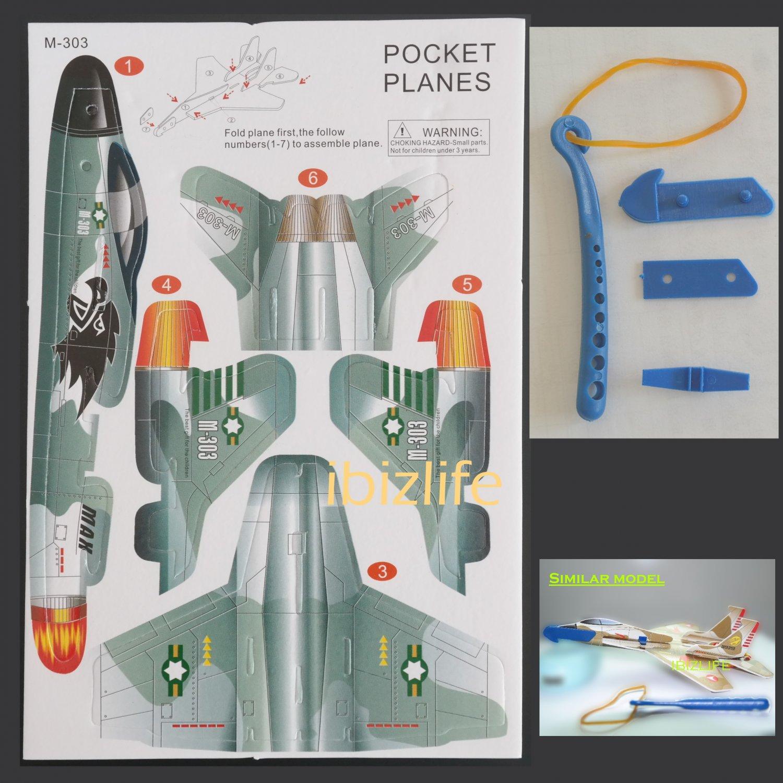 3D DIY Paper model flying pocket planes as gift for children and kids F-303   (pc39)