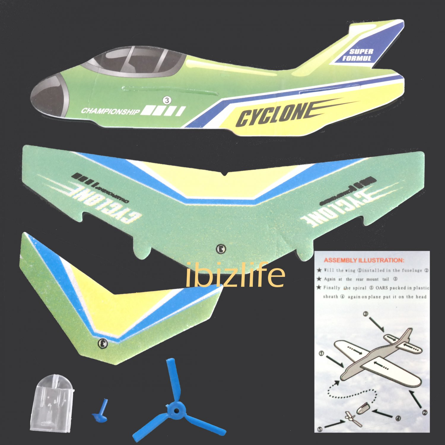 3D DIY Paper model flying pocket planes as gift for children and kids -   Championship (pc35)