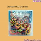 RAINBOW LOOM RUBBER BAND REFILL with 600 bands (Assorted color) & 24 Clips (RL23)