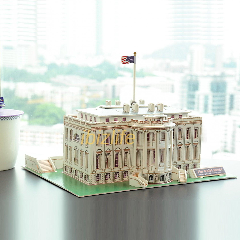 The White House-USA 3D Puzzle set Calebou 2801-E 65 pcs DIY Jigsaw model as gift