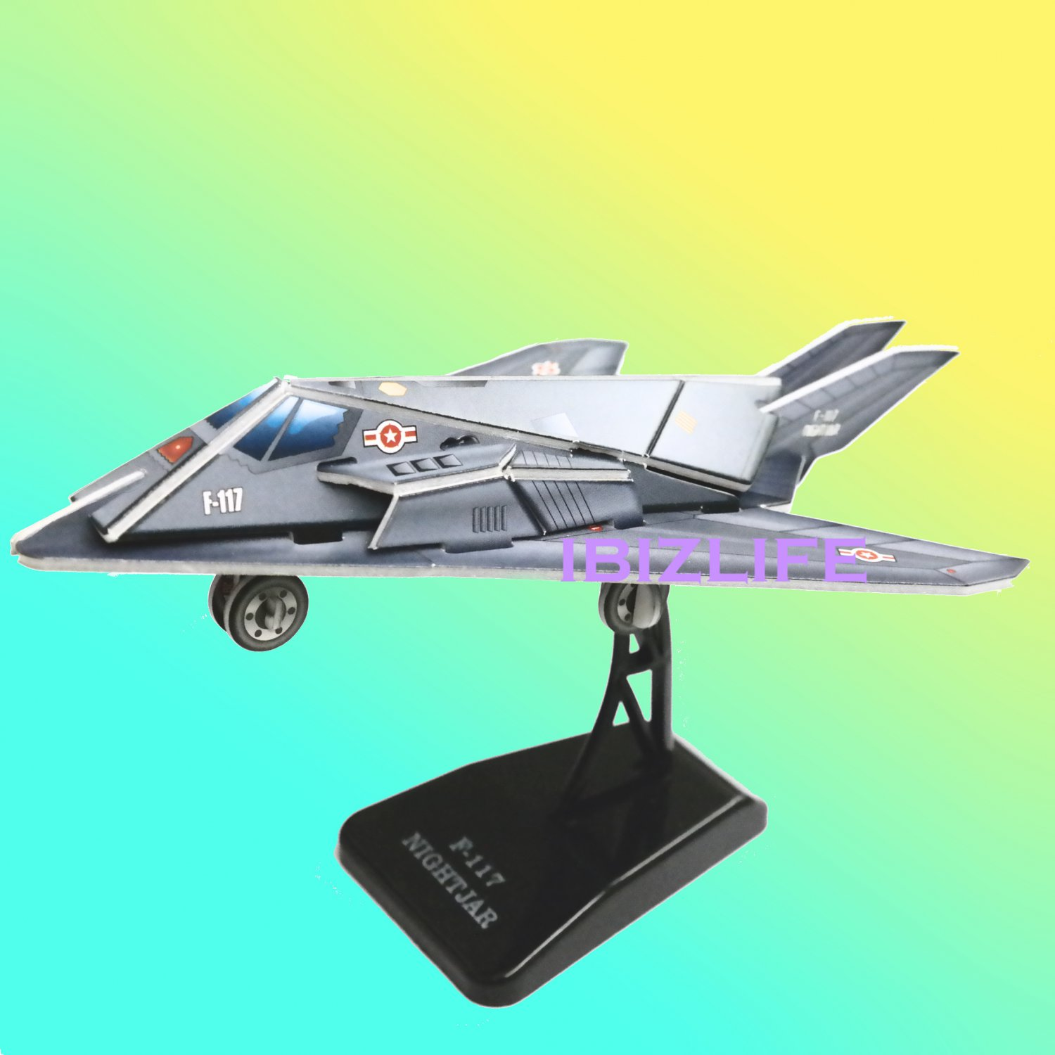 F-117 NIGHTJAR PAPER 3D puzzle DIY jigsaw craft model USA AIR FORCE Desktop Deco as gift (pc42)