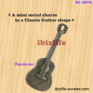 A metal charms with brown color Classic Guitar for love songs (bc14)