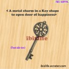 A metal charms with brown color KEY shape to open the door of happiness (bc15)
