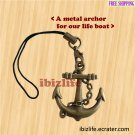 A metal charms with bronze color anchor for our life boat (bc18)