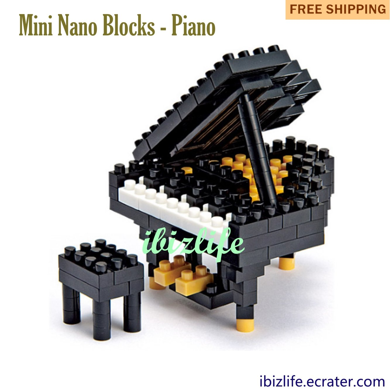 Piano: Diamond Blocks Mini Bricks Building Blocks DIY Education gifts - 110 pcs(BB01)
