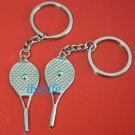 Metal keychain / Keyring -  A pair of TENNIS rackets (kc19)