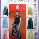McCall's 4474 Women's Skirts Plus Size 26W, 28W, 30W, 32W Sewing Pattern Uncut