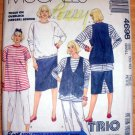 Maternity Skirt Top Shorts Pants, Size Small, McCall's 4698 Sewing Pattern Uncut