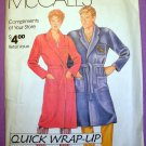 Women's and Men's Robe McCall's 0011 Size Small, Medium, Large, X-Large Sewing Pattern Uncut