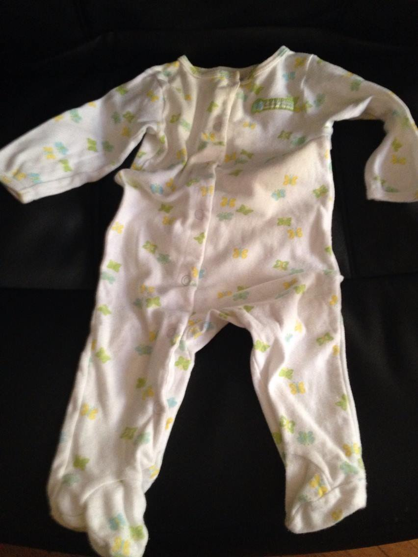 9 months Butterfly footed onesie