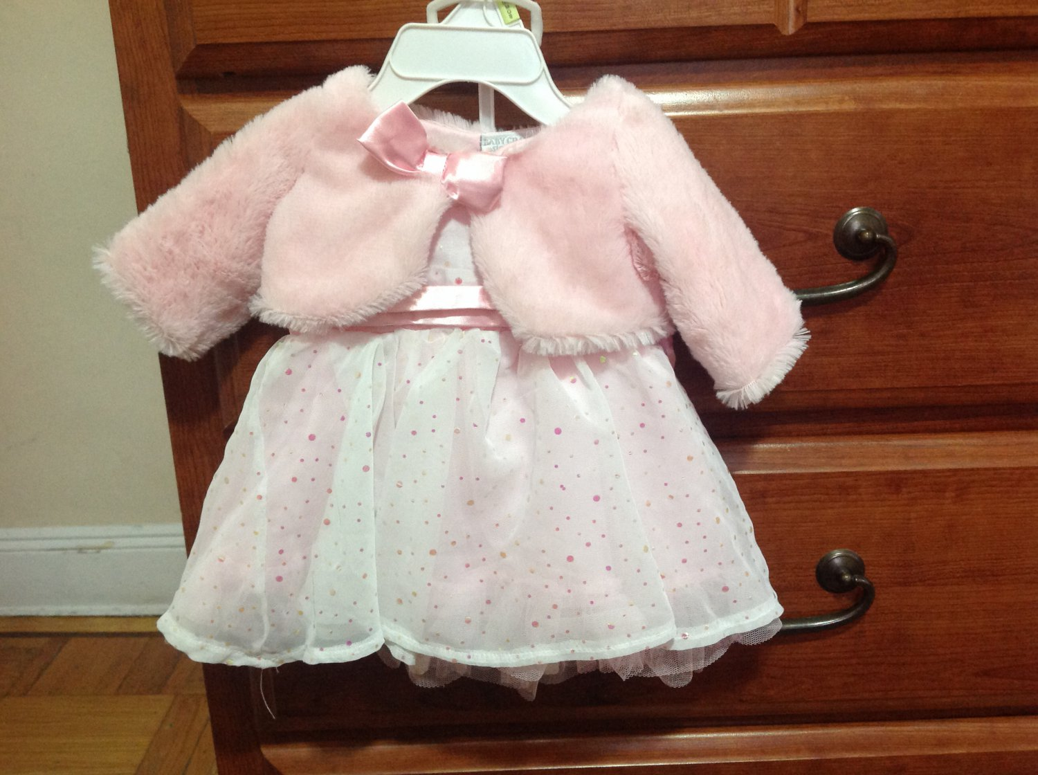 Pink party dress 0-3 months