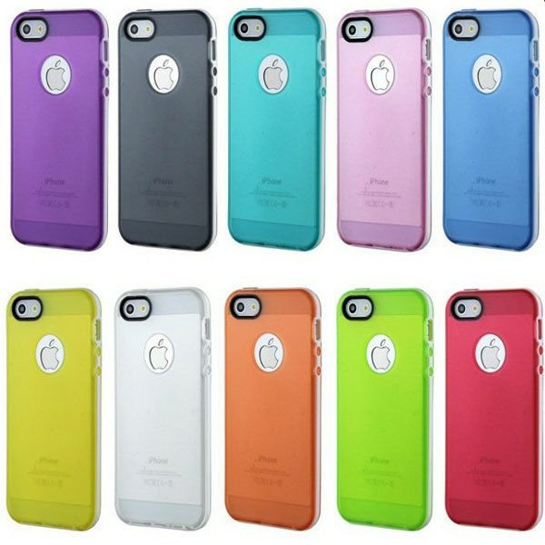 Clear TPU Protective Case Cover For iPhone 5 5S