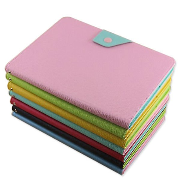 Contrast Color Leather Hard Case Cover For Samsung P5200