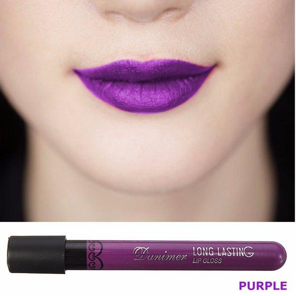 8 Colors Long Lasting Matte Velvet Lipstick Waterproof Purple Lip Gloss