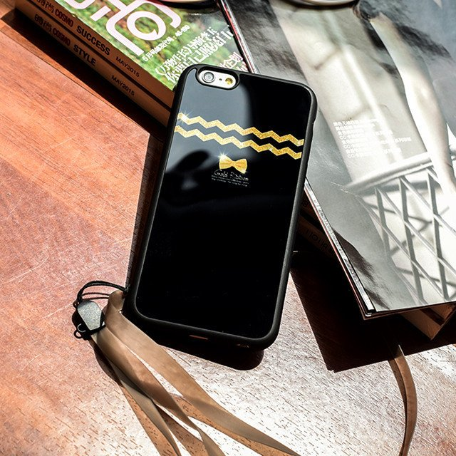 Wave Pattern Lanyard Case Soft Silicone Mirror Cover Shell For iPhone 6/6s