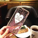 Glitter Liquid Heart  Pink Glitter Crystal Clear Case Cover For iPhone 6/6s 5.5""