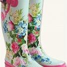 Watercolour Wellies Boots SZ 8