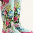 Watercolour Wellies Boots Sz 8