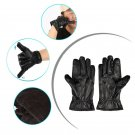 Genuine Leather Bluetooth Hi-call Microphone Earphone Touch Screen USB Charging Gloves