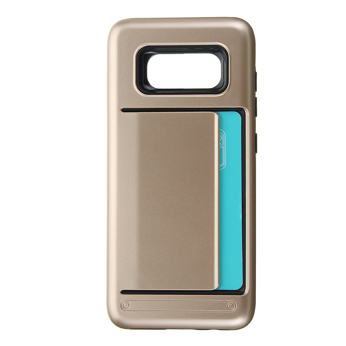 TPU+PC Hybrid Card-slots Shockproof Armor Cover Case For Samsung Galaxy S8 Plus:Gold
