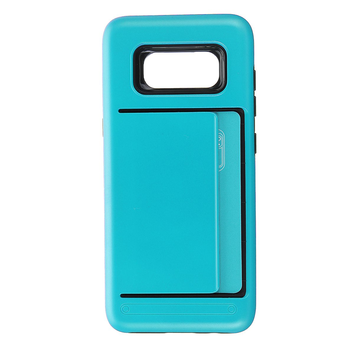 TPU+PC Hybrid Card-slots Shockproof Armor Cover Case For Samsung Galaxy S8 Plus:Blue