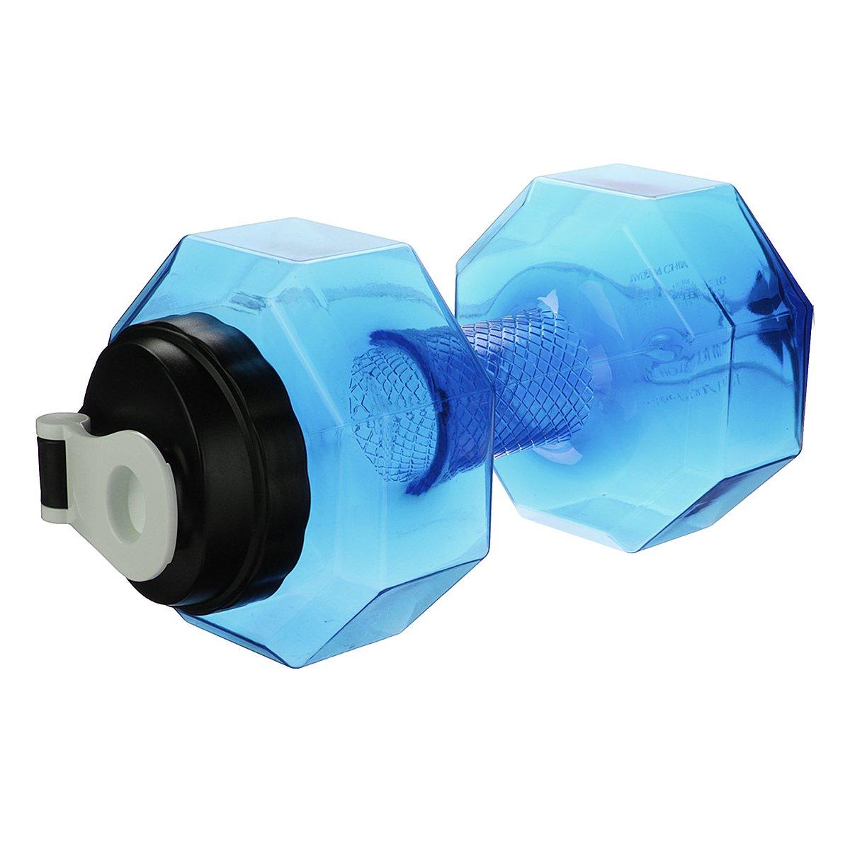 2.2L Portable Water Bottle Sports Travel Dumbbell Blue