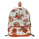 Floral Schoolbag/Backpack-White