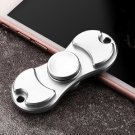 Rotating Fidget Hand ADHD Autism Fingertips Spinner Silver