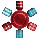 Hexagonal Mixed Color Rotating Fidget Hand Spinner Red/Blue