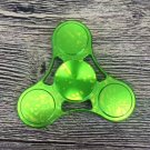 Starry Tri Rotating Fidget Hand Spinner ADHD Autism Fingertips Stress Green