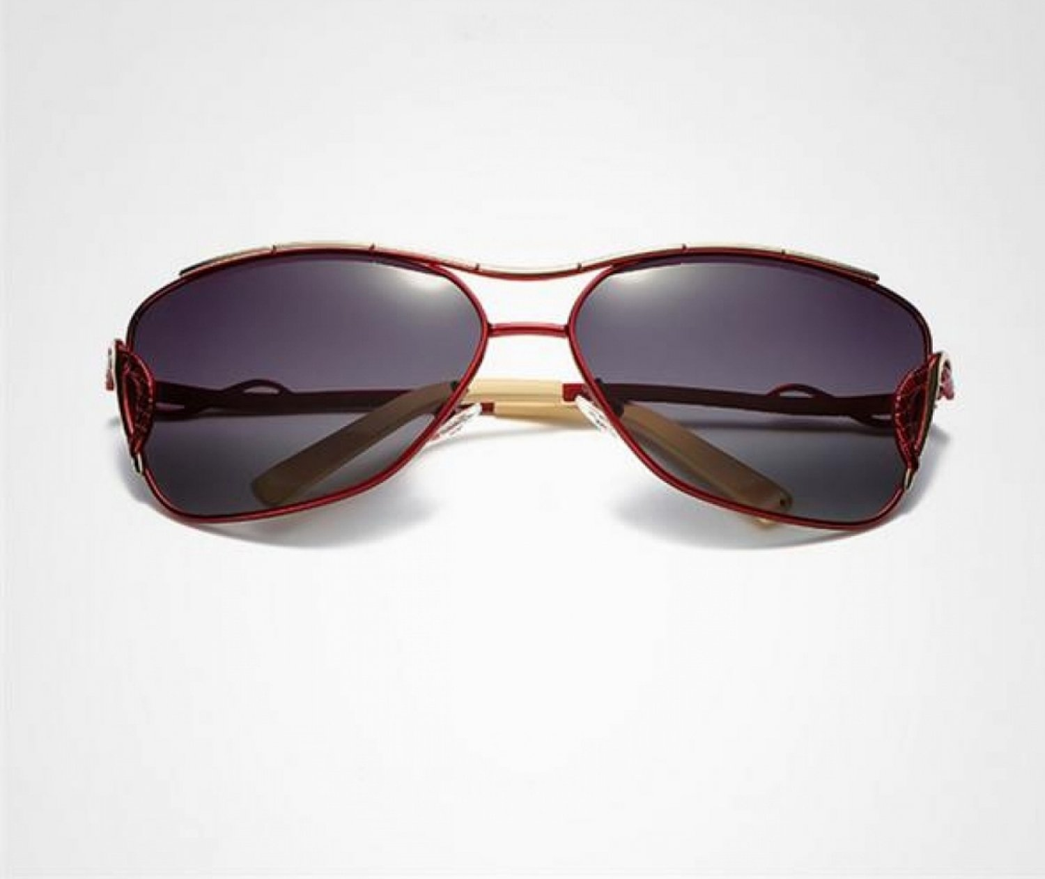 Unisex Vintage HD Polarized  Anti UV Driving Sunglasses Red