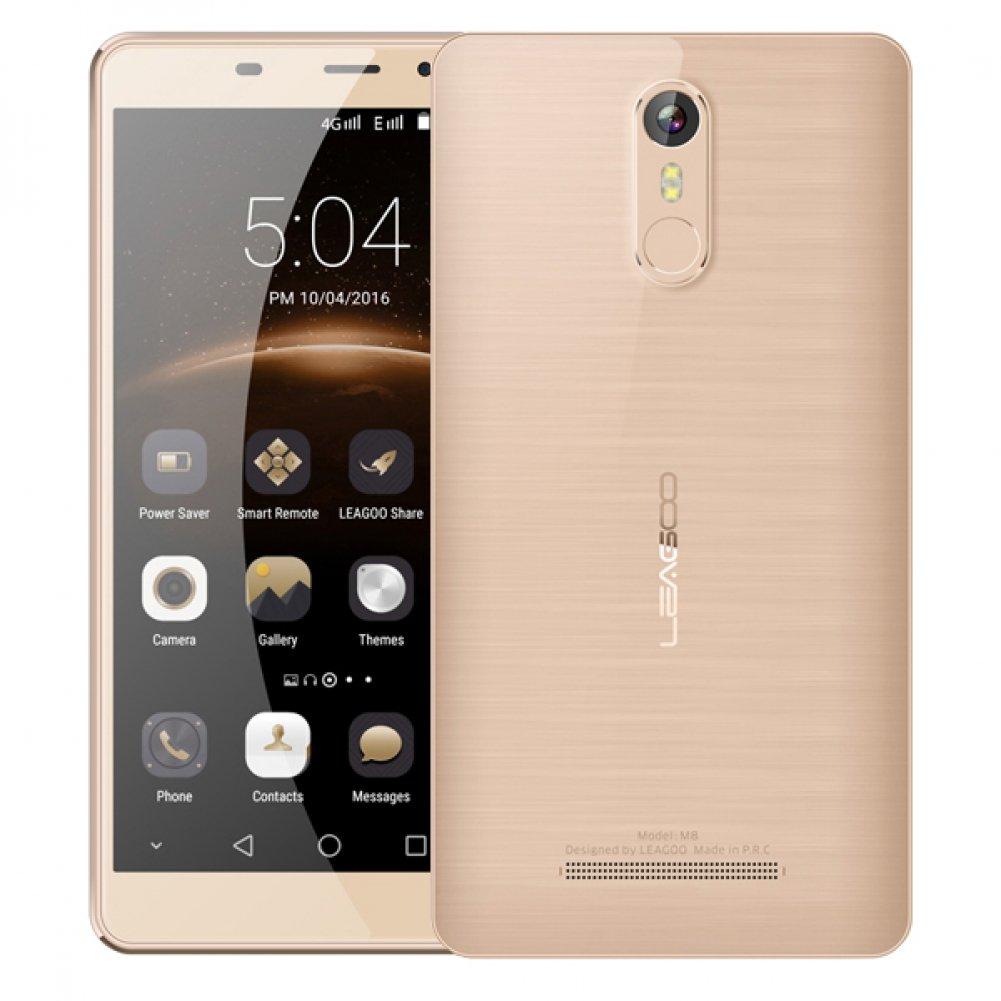 New Leagoo M8 5.7'' Gorilla Glass Fingerprint 2GB RAM 3G Smartphone Gold
