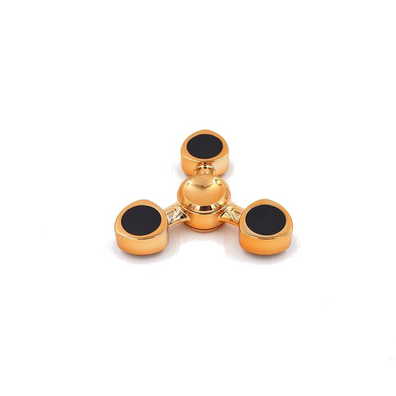 Spiral Peach Pentagon Rotating Fidget Hand Spinner Gold