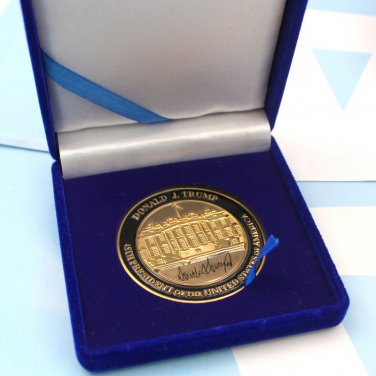 45th President Of USA Donald Trump Challenge Coin & Case