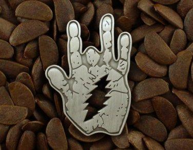 Grateful Dead Pins Jerry Garcia Hand Lighting Bolt Pin