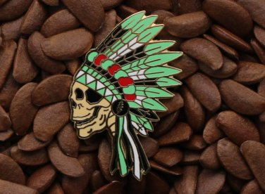 Grateful Dead Pins Native American Indian Headdress Skull Pin