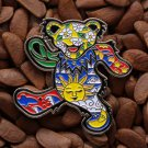 Grateful Dead Pins Happy Pooh Bear Lighting Bolt Sunshine Flower Pin